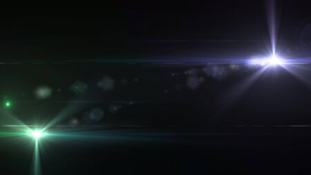 Beautiful color light with lens flare. Glowing streaks overlay on dark background. Stock Photo - 77814557