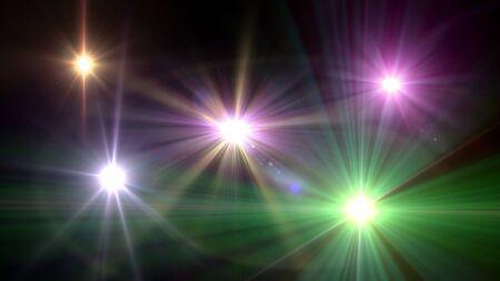 brightness: camera flash flare. Glowing streaks overlay on dark background.