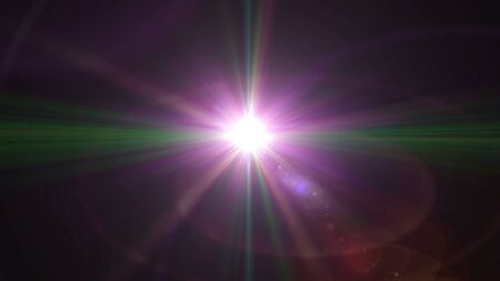 color light with lens flare. Glowing streaks overlay on dark background. Stock Photo - 77825049