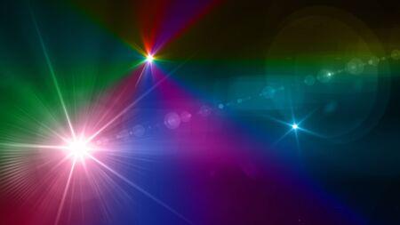 camera flash flare. Glowing streaks overlay on dark background. Stock Photo - 77825054
