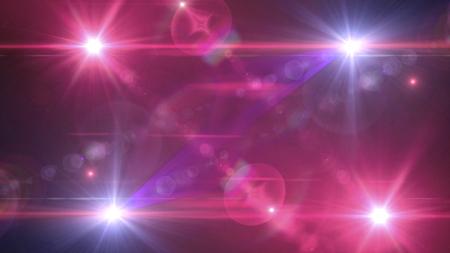美しい色のレンズ フレアの光。暗い背景上に光る筋を重ねてください。 写真素材