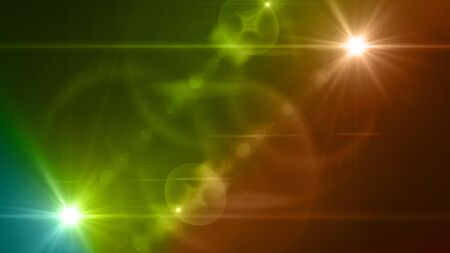 Beautiful color light with lens flare. Glowing streaks overlay on dark background. Stock Photo - 77769523