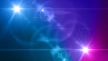 Kleurlicht met lensflare. Gloeiende strepen overlay op donkere achtergrond.