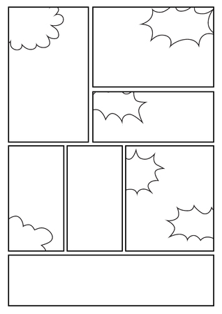 Manga storyboard layout template for rapidly create the comic manga storyboard layout template for rapidly create the comic book style a4 design of paper maxwellsz
