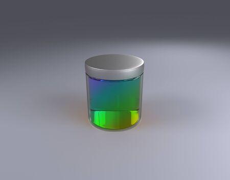 color Jar on cone by 3D rendering Reklamní fotografie