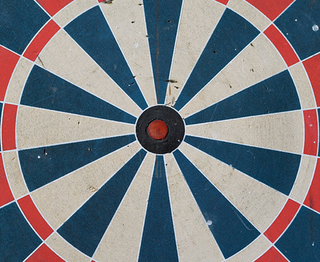 target with  a misaligned red center