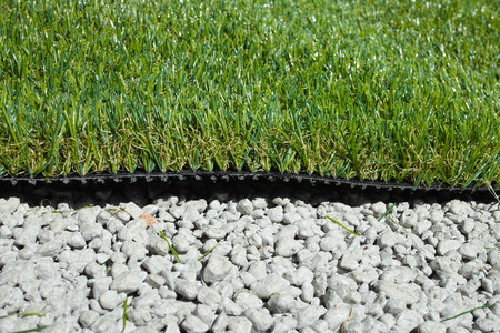 synthetic: synthetic grass applied on cemented gravel