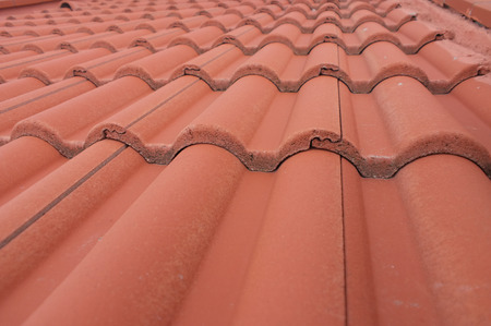 Roof tiles in perspective view Stock Photo - 35050597
