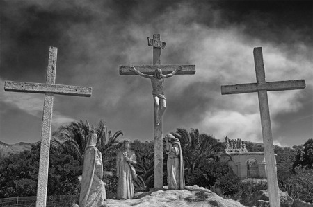 Christ's Passion in black and white