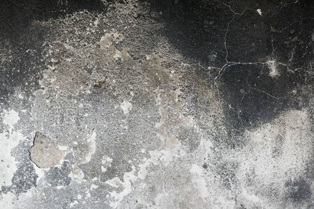 Detail of a wall destroyed by fire