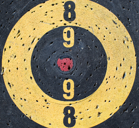 Conceptual image of a Target with  a misaligned red center