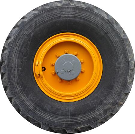 Heavy transport wheel  isolated on white background