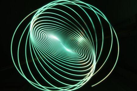 neon green light effect spiral