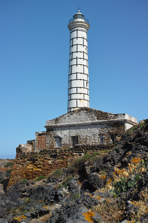 Ancient lighthouse and its ruined structure
