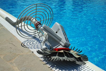 Swimming pool cleaner robot Stock Photo