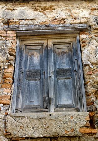 rustic old window in wood