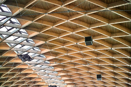Wood Ceiling detail of a Hangar interior