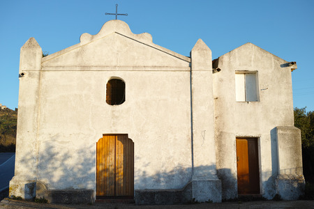 Christian white  church in Mediterranean