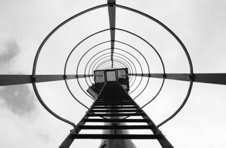 Beacon ladder in perspective view Stock Photo