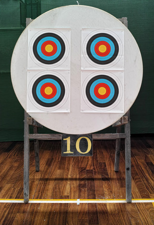 number 10: official 40cm archery targets and number 10 under them