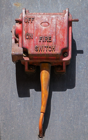 Red fire switch with ON OFF