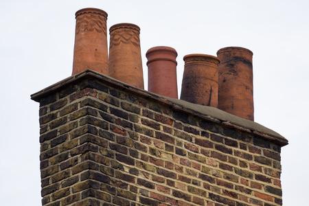 close up shot of an ancient chimneys pot