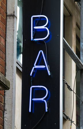 Old Style bar neon signboard