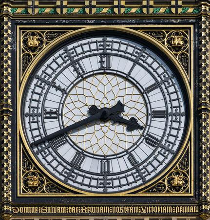 London Big Ben Clock of detail. Stock Photo