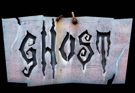 Ghost written on a sloppy sign Stock Photo - 50612367