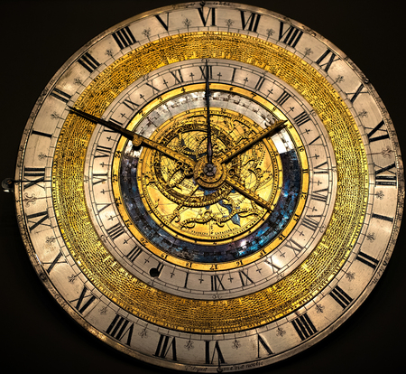 Ancient Medieval Clock Stock Photo - 83348560