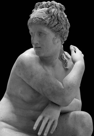 Lelys Venus surprised as she bathes. Marble, Roman copy from the 2nd century BC after an Hellenistic original.