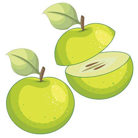 Green apple - illustration Imagens - 129017132