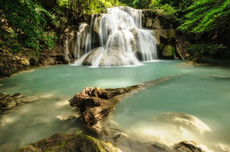 Forest Stream and Waterfall  in thailand  photo