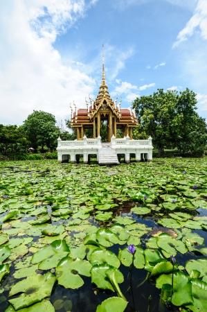 Ancient thai pavilion in thailand photo
