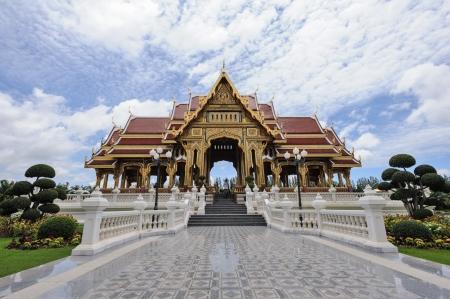 Ancient thai pavilion in thailand