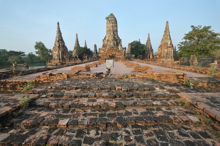 Ancient pagoda architecture in ayutthaya   thailand   photo