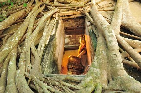 centenarian: Ancient Buddha  Wat bangkung  Samut Songkhram  Province in thailand