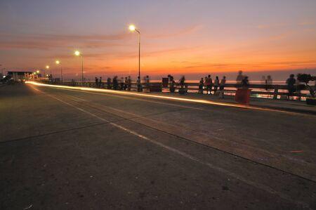 samutprakarn: Tropical beach bridge to the sea  in  samutprakarn Thailand