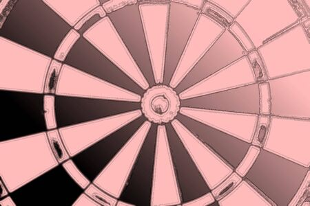 A dart board close up, goals and targetting concept.