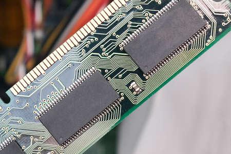 Computer RAM, system, main memory, random access memory, high-tech computer detail close-up, new modern intelligent technology. Reklamní fotografie