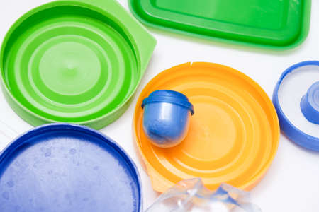 Many pet plastic objects, things that can be recycled in order to save nature and protect environment