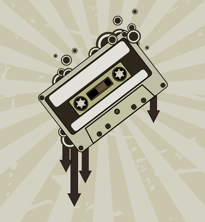 Audio tape Stock Vector - 3547966