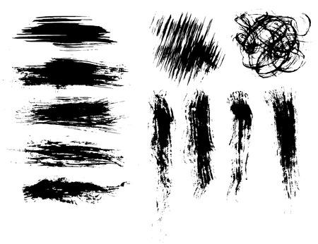 Grunge brushes Illustration