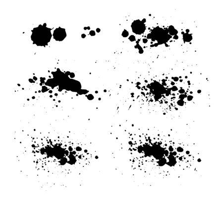 Ink splatters Vector