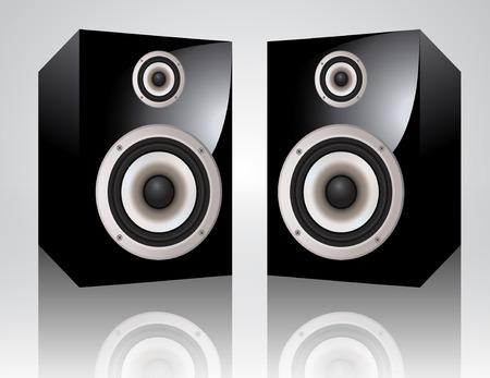 speaker box: altavoces de audio realistas  Vectores