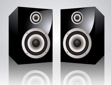 speakers: altoparlanti audio realistici  Vettoriali