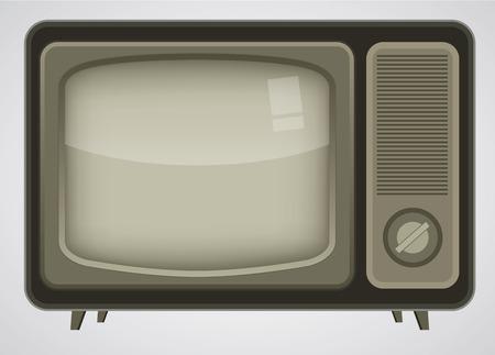 omroep: Retro TV illustratie