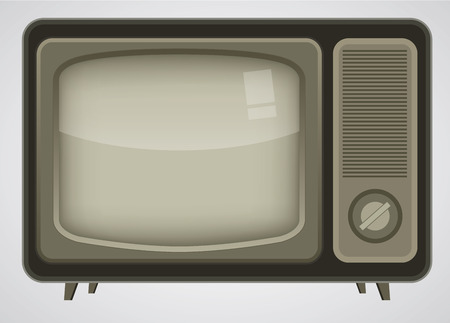 Retro TV illustration Stock Vector - 8547886