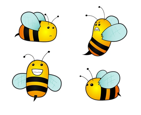 pollinator: Cartoon bees