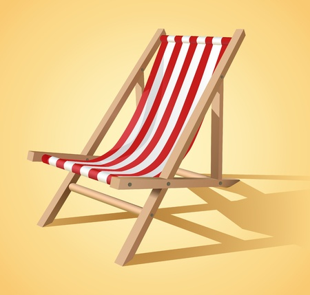 recliner: Beach chair vector